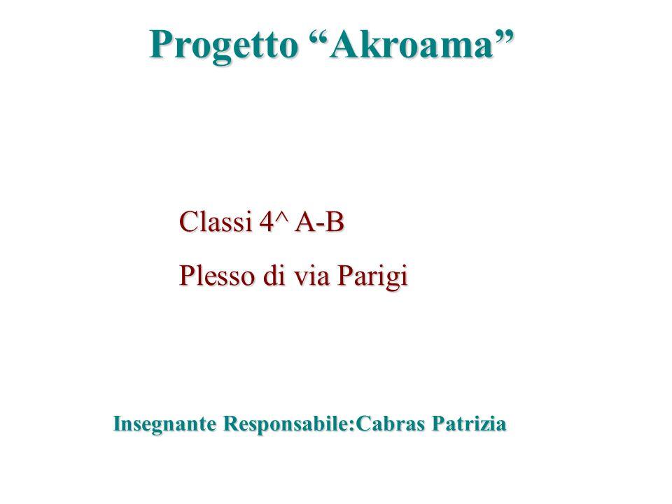 Progetto Akroama Classi 4^ A-B Plesso di via Parigi