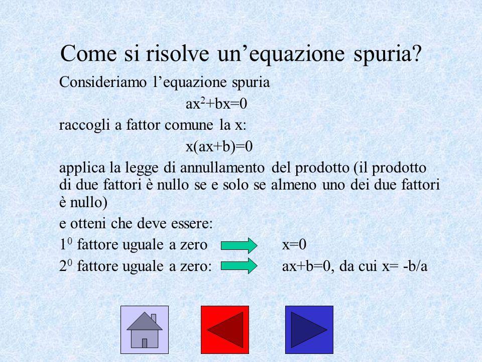 Come si risolve un'equazione spuria