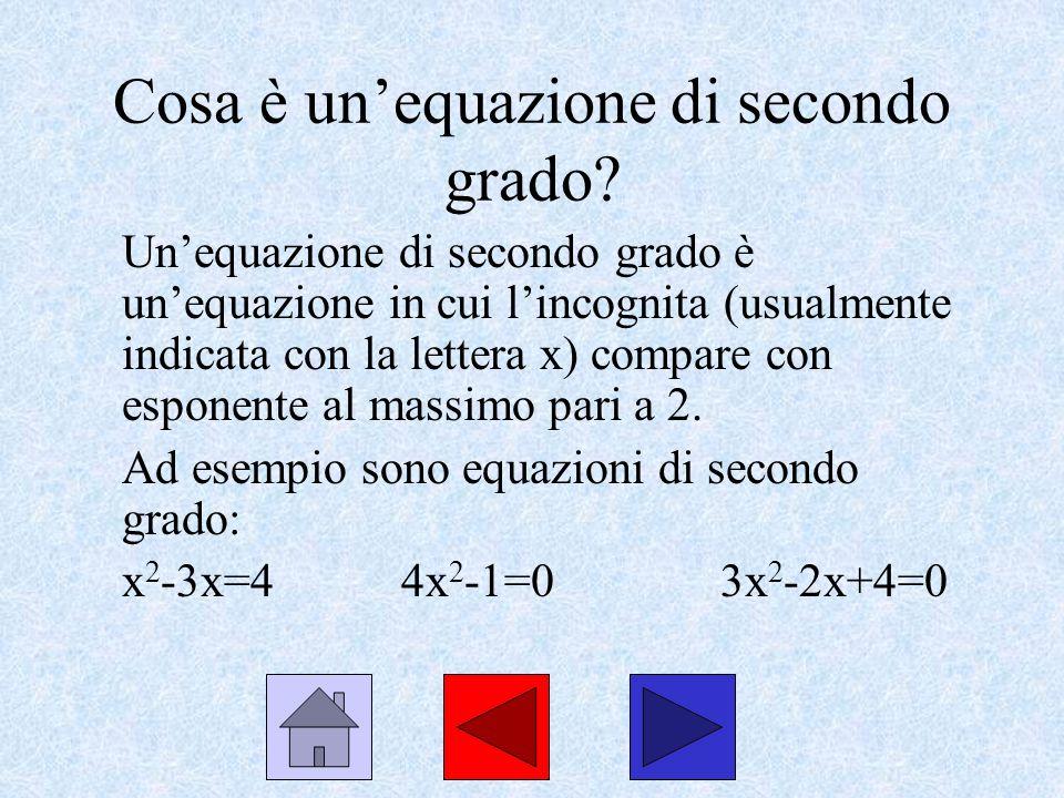 Cosa è un'equazione di secondo grado