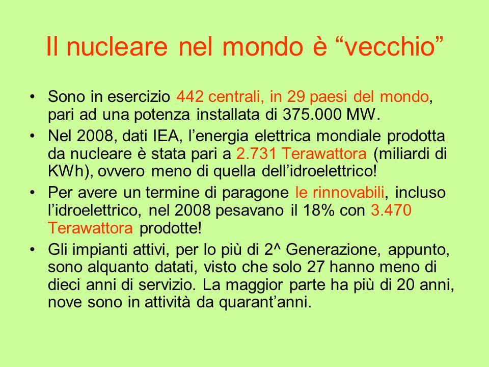 Il nucleare nel mondo è vecchio