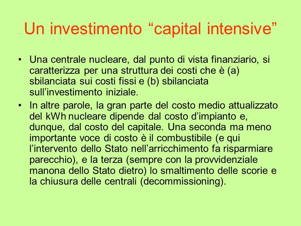 Un investimento capital intensive