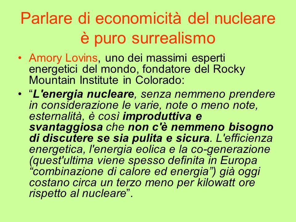 Parlare di economicità del nucleare è puro surrealismo