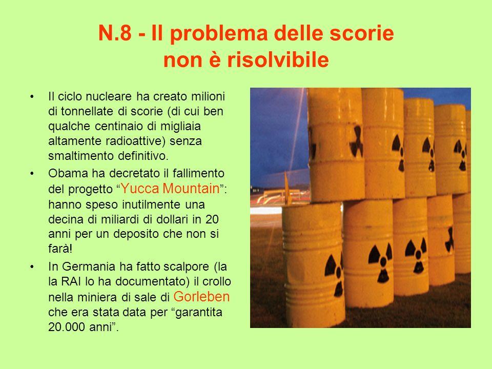 N.8 - Il problema delle scorie non è risolvibile