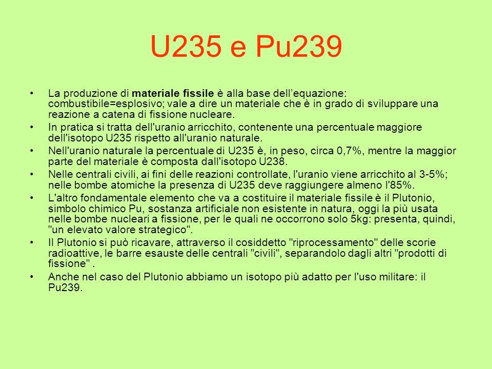 U235 e Pu239