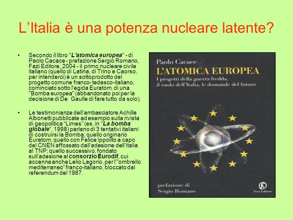 L'Italia è una potenza nucleare latente