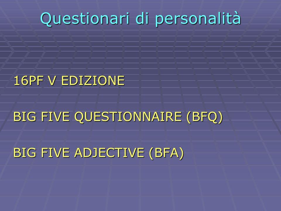Questionari di personalità