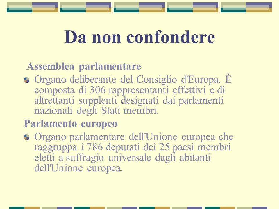 Da non confondere Assemblea parlamentare