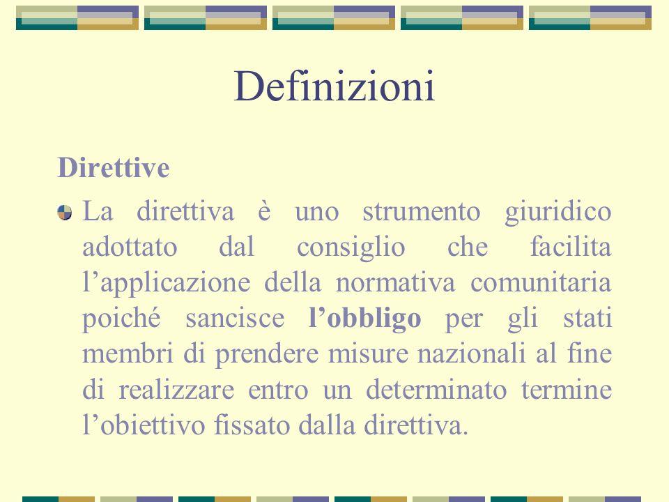 Definizioni Direttive