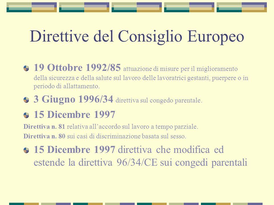 Direttive del Consiglio Europeo