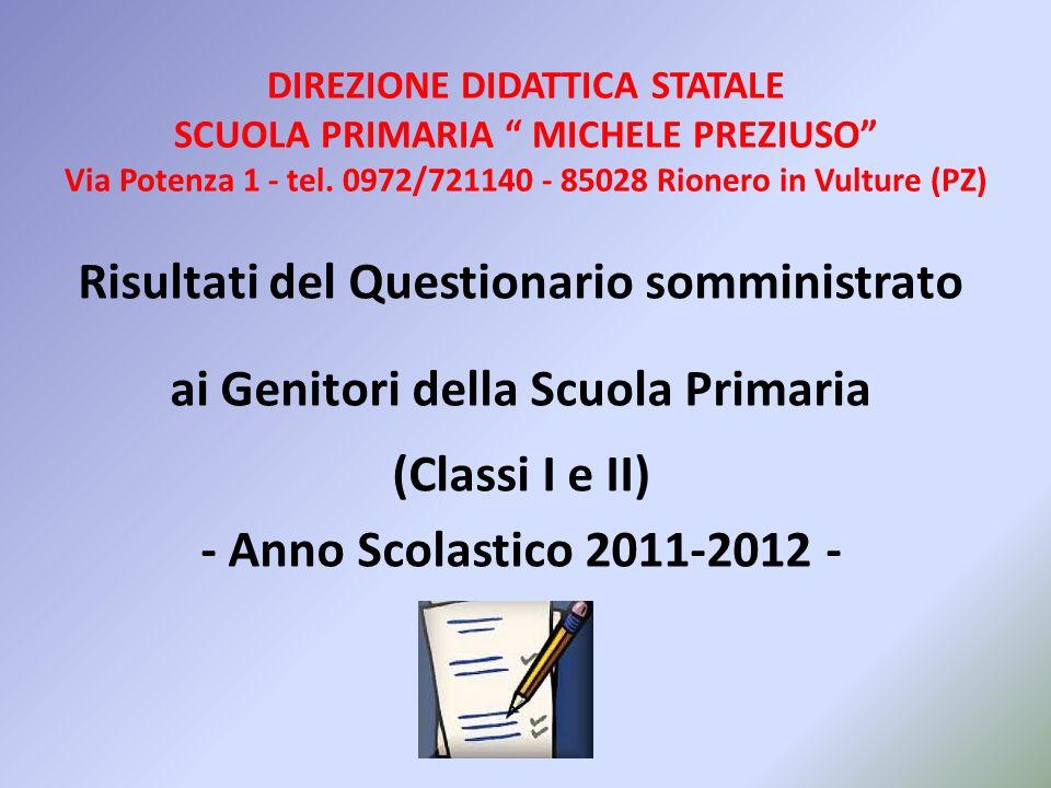 DIREZIONE DIDATTICA STATALE SCUOLA PRIMARIA MICHELE PREZIUSO Via Potenza 1 - tel. 0972/721140 - 85028 Rionero in Vulture (PZ)