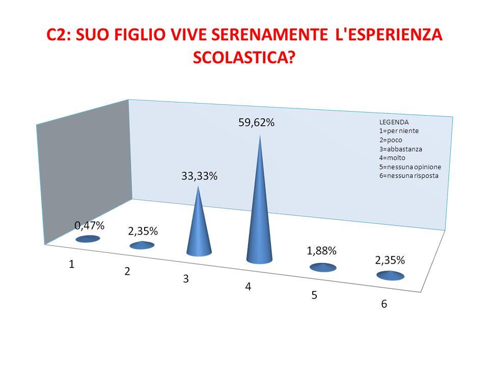 C2: SUO FIGLIO VIVE SERENAMENTE L ESPERIENZA SCOLASTICA