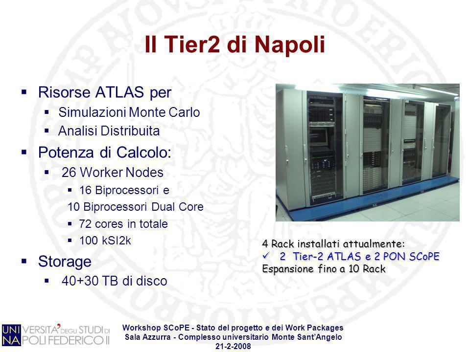 Il Tier2 di Napoli Risorse ATLAS per Potenza di Calcolo: Storage