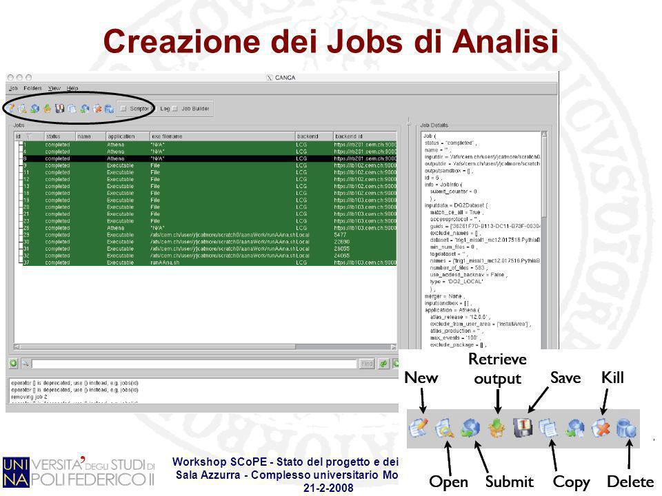 Creazione dei Jobs di Analisi