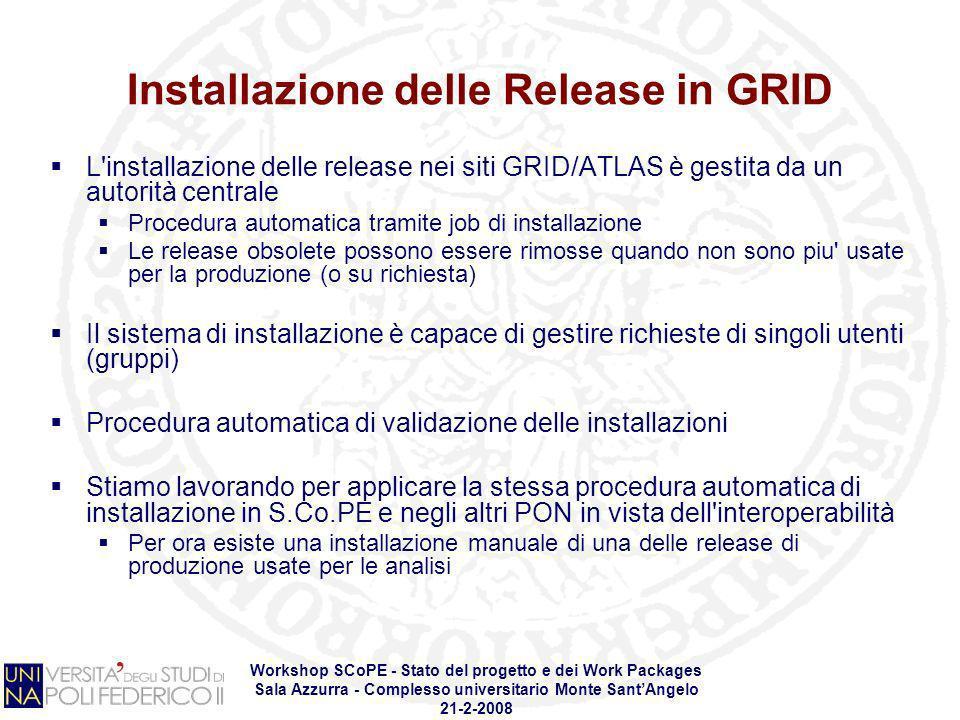Installazione delle Release in GRID