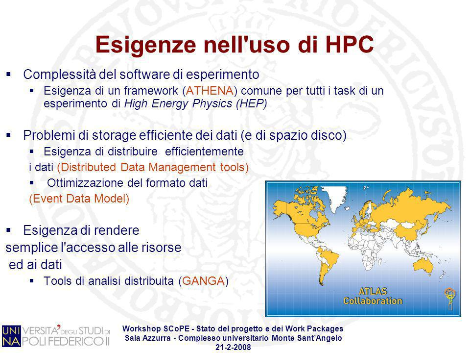 Esigenze nell uso di HPC