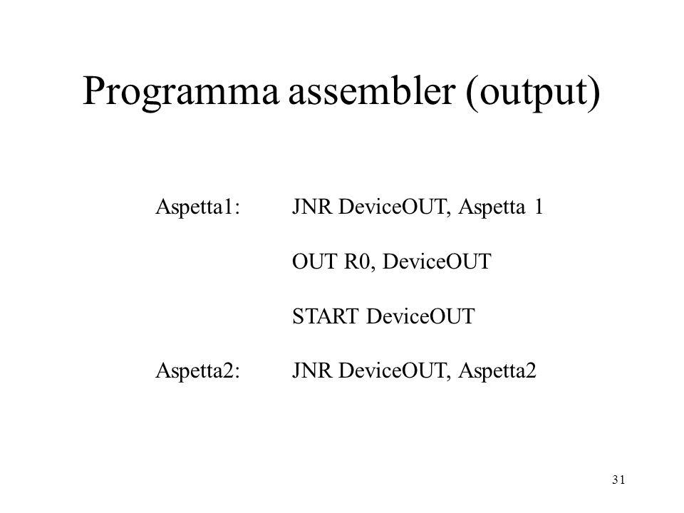 Programma assembler (output)