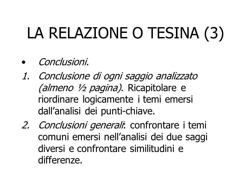 LA RELAZIONE O TESINA (3)