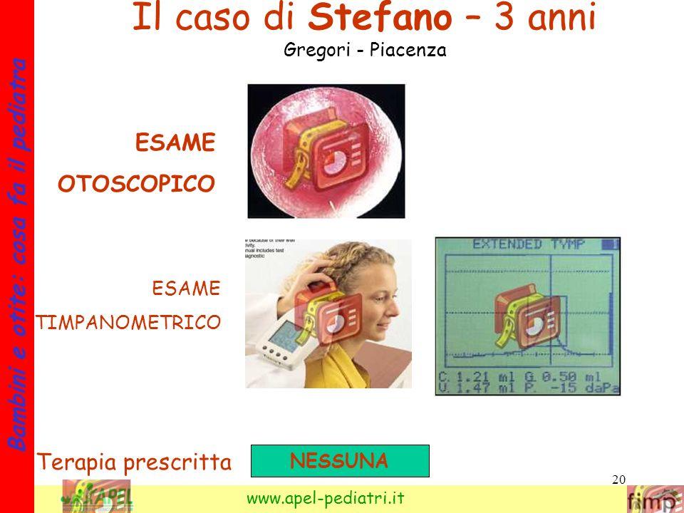 Il caso di Stefano – 3 anni Gregori - Piacenza