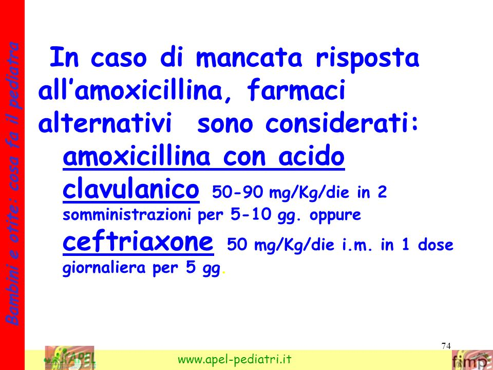 In caso di mancata risposta all'amoxicillina, farmaci alternativi sono considerati: