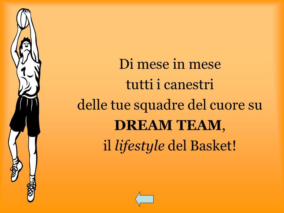 delle tue squadre del cuore su DREAM TEAM, il lifestyle del Basket!