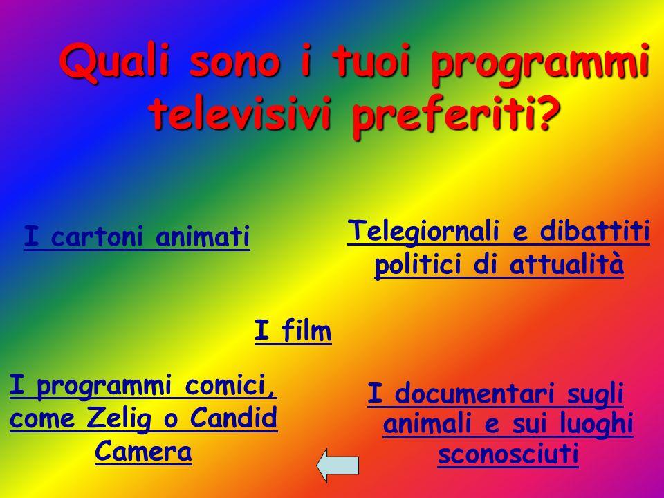 Quali sono i tuoi programmi televisivi preferiti