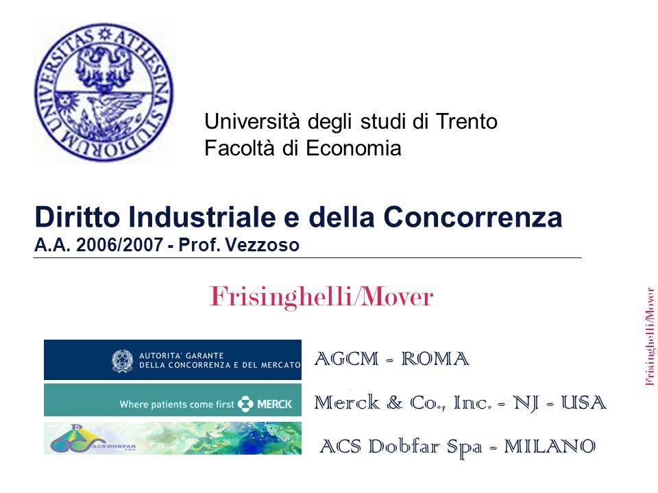 Diritto Industriale e della Concorrenza A.A. 2006/2007 - Prof. Vezzoso