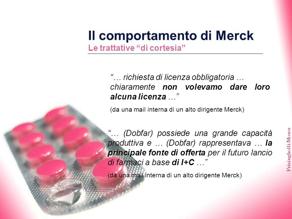 Il comportamento di Merck Le trattative di cortesia
