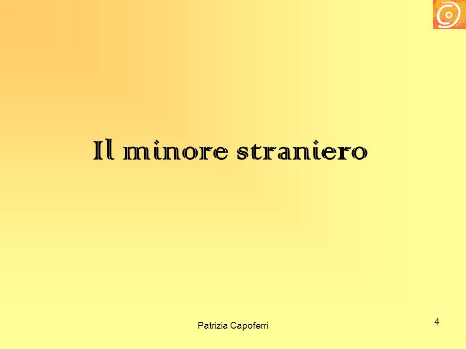 Il minore straniero Patrizia Capoferri