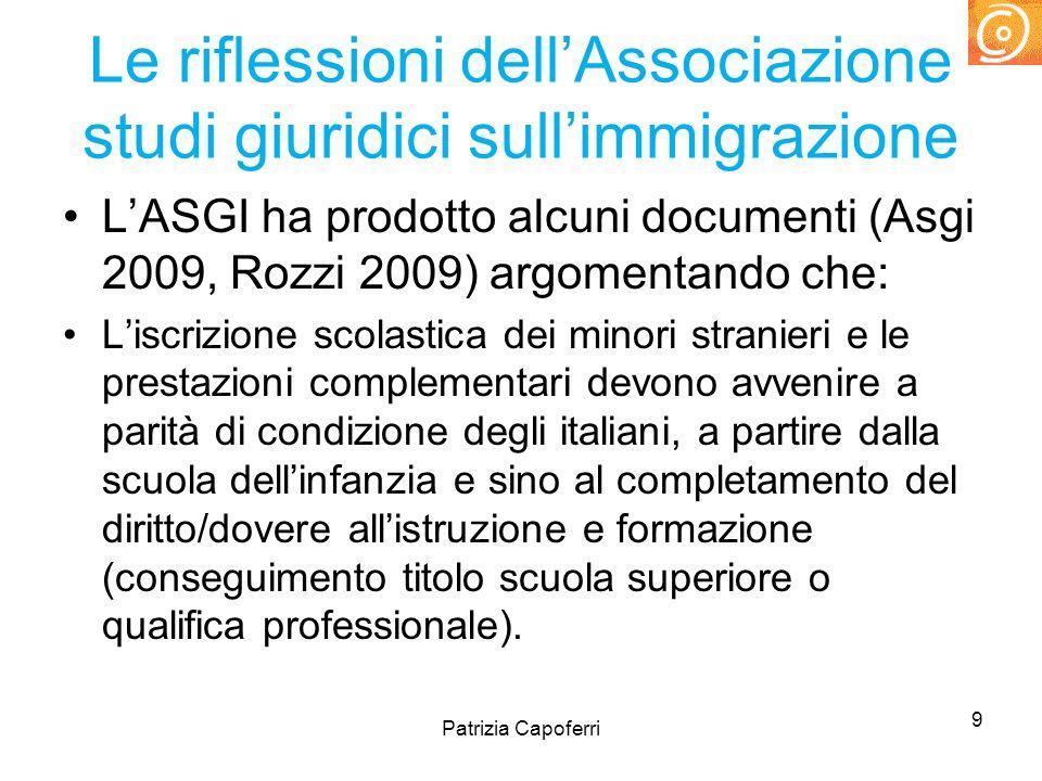 Le riflessioni dell'Associazione studi giuridici sull'immigrazione