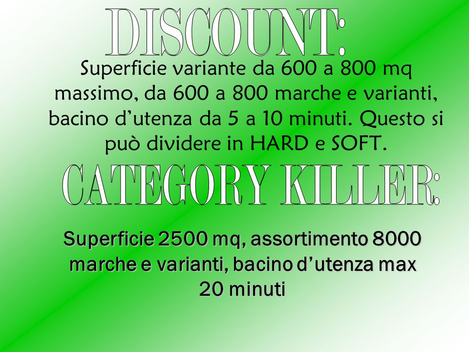 DISCOUNT: CATEGORY KILLER:
