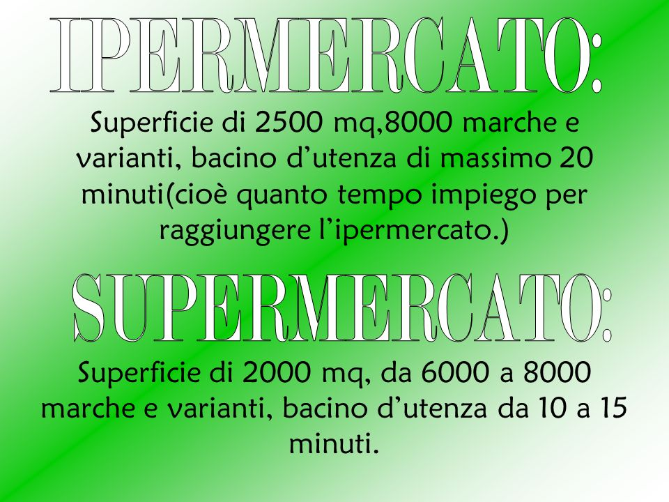 IPERMERCATO: SUPERMERCATO: