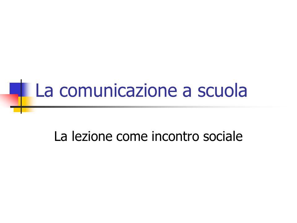 La comunicazione a scuola
