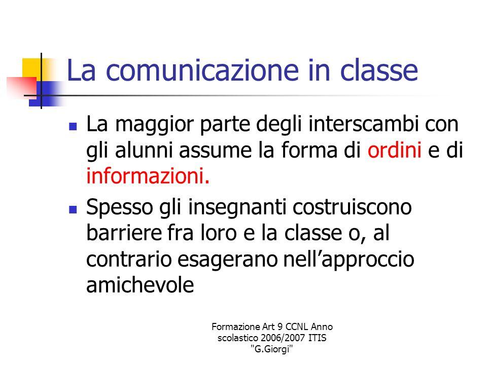 La comunicazione in classe