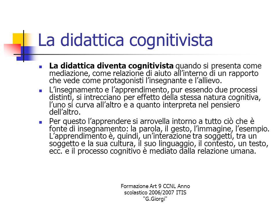 La didattica cognitivista