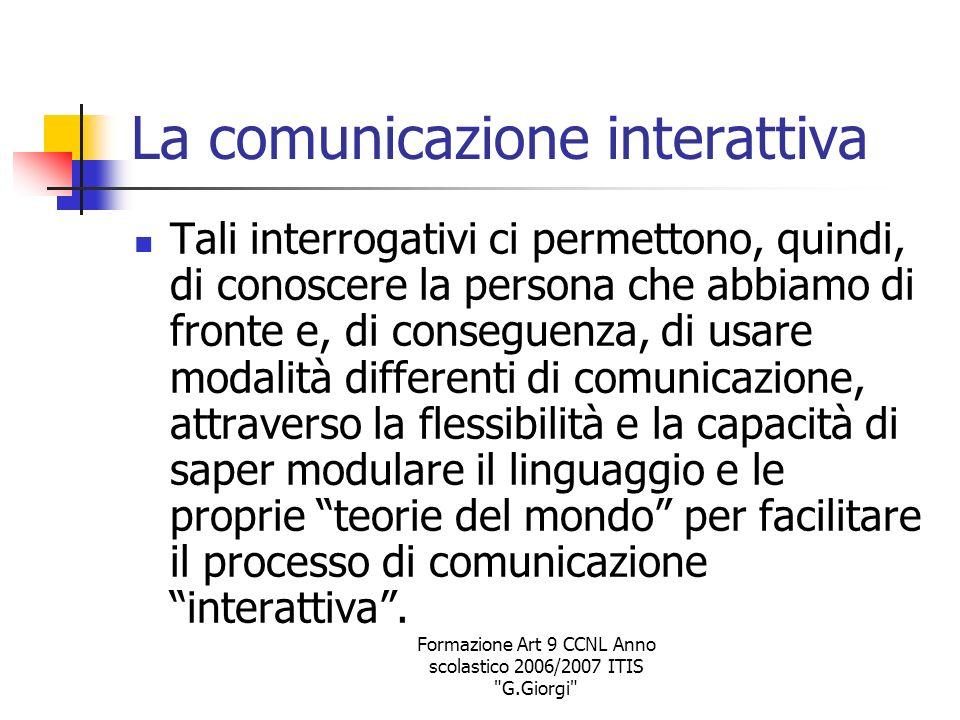La comunicazione interattiva