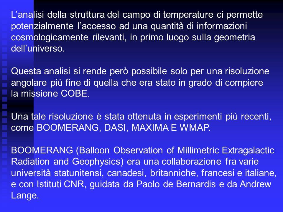 L'analisi della struttura del campo di temperature ci permette