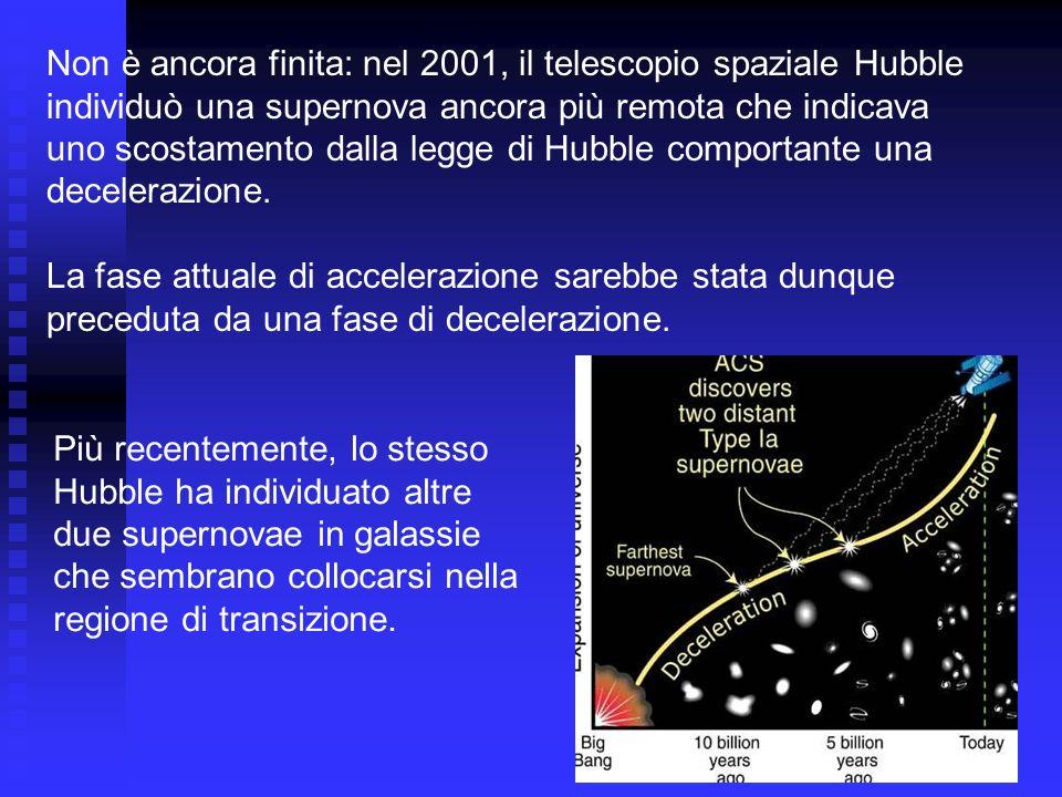 Non è ancora finita: nel 2001, il telescopio spaziale Hubble