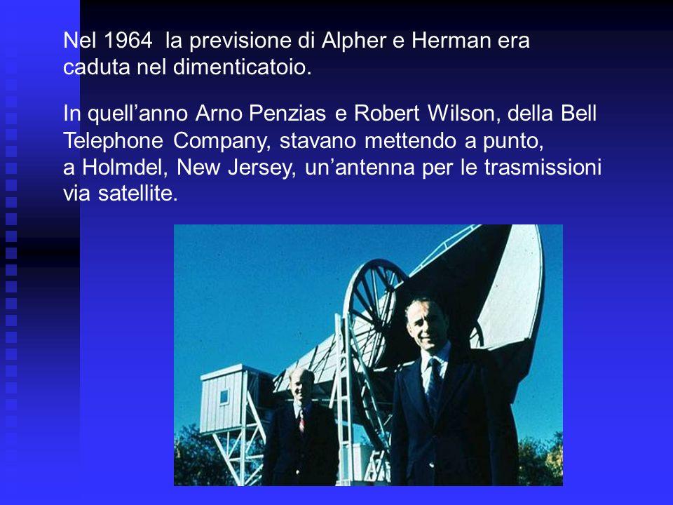 Nel 1964 la previsione di Alpher e Herman era