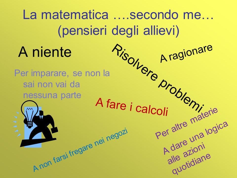 La matematica ….secondo me… (pensieri degli allievi)