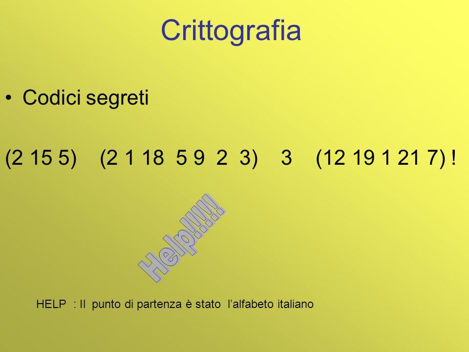 Crittografia Help!!!!! Codici segreti