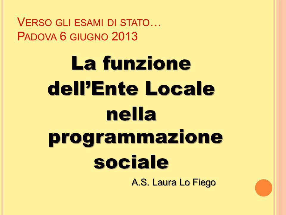 Verso gli esami di stato… Padova 6 giugno 2013