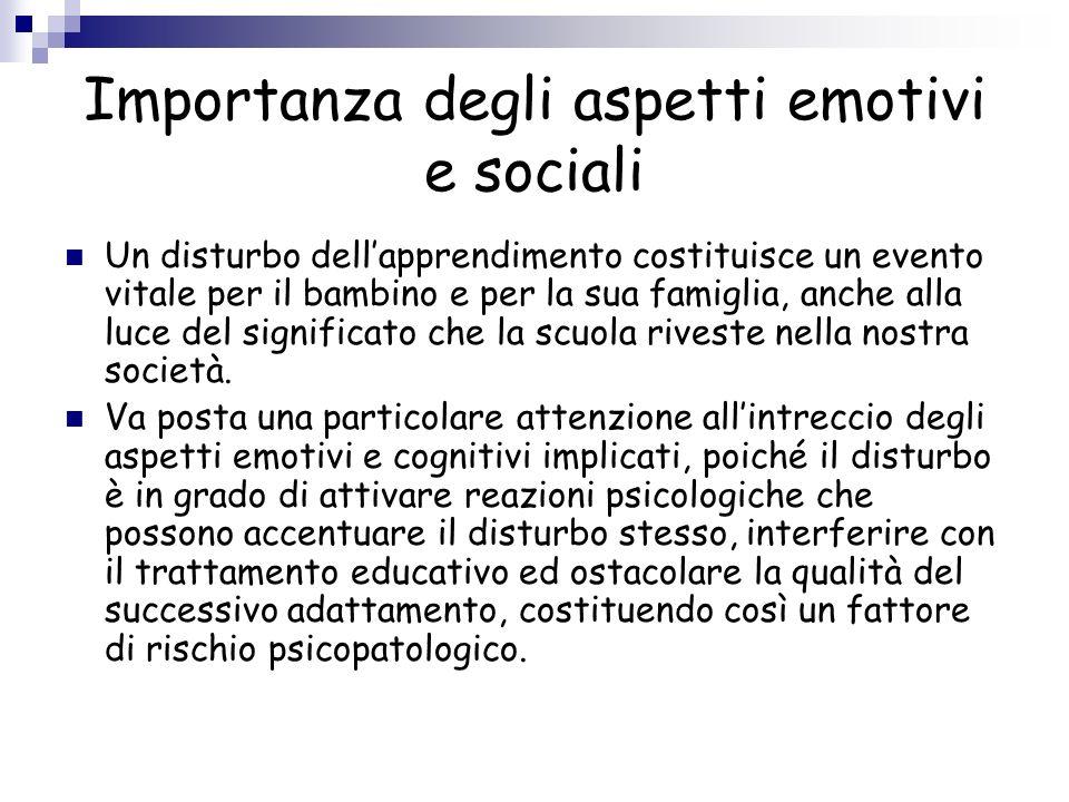 Importanza degli aspetti emotivi e sociali