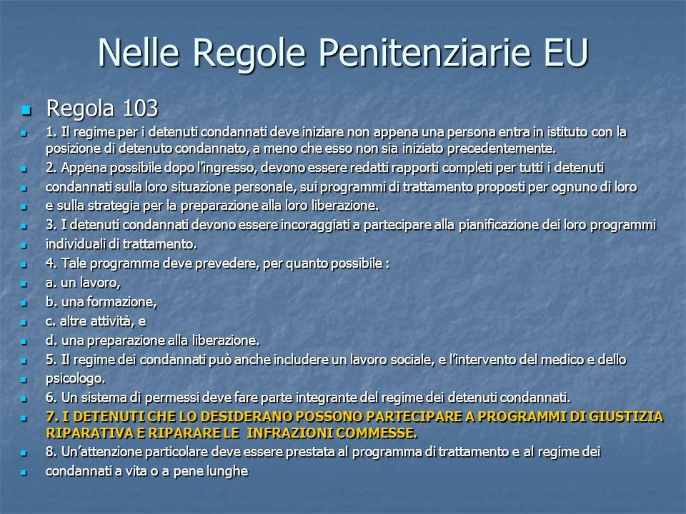 Nelle Regole Penitenziarie EU