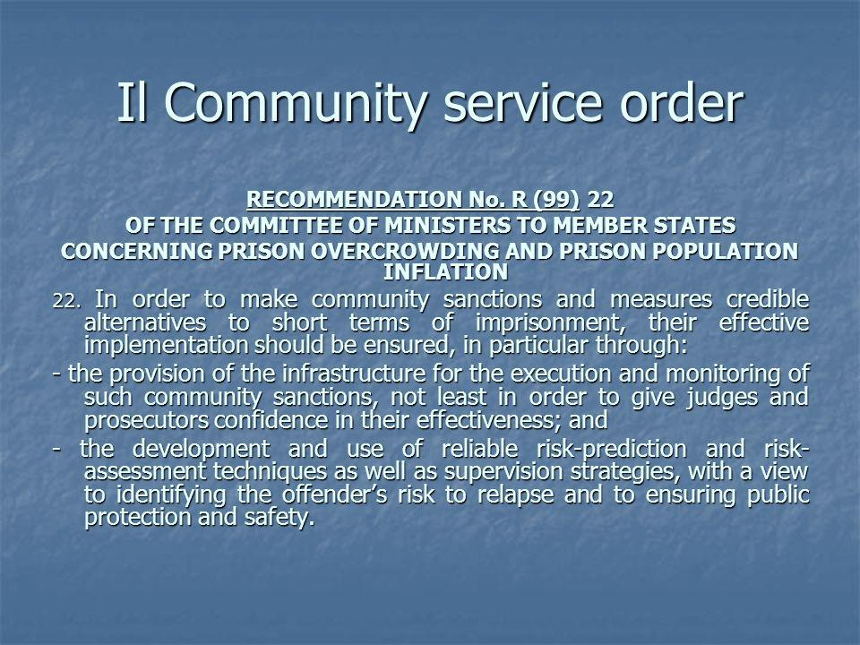 Il Community service order