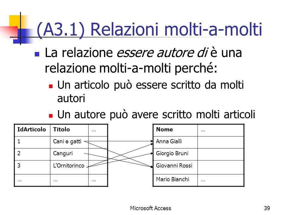 (A3.1) Relazioni molti-a-molti