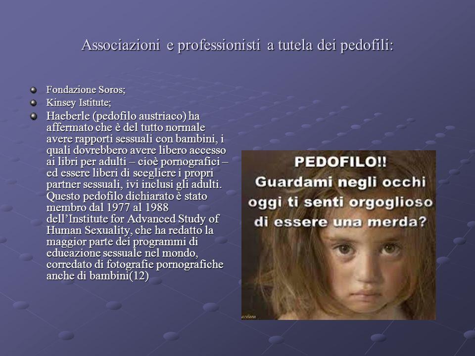 Associazioni e professionisti a tutela dei pedofili: