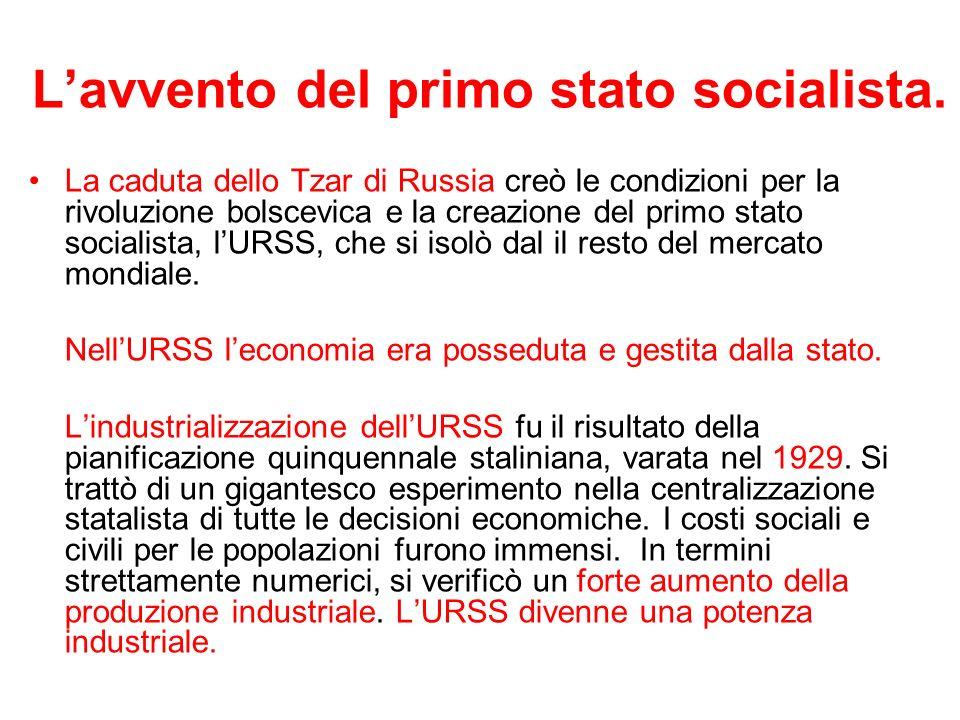 L'avvento del primo stato socialista.