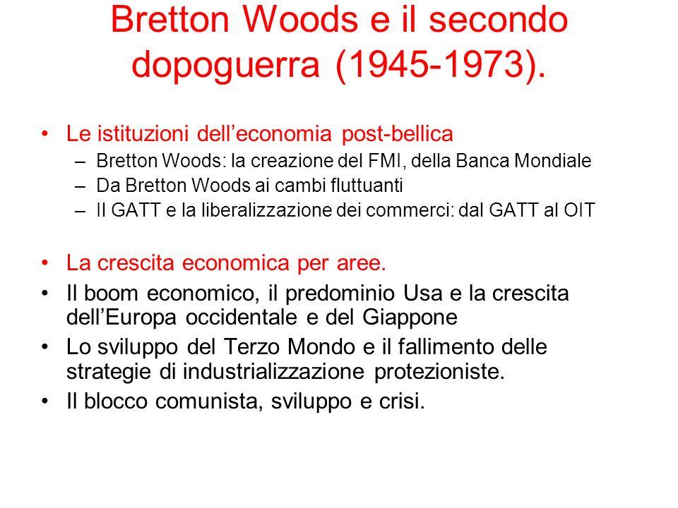 Bretton Woods e il secondo dopoguerra (1945-1973).