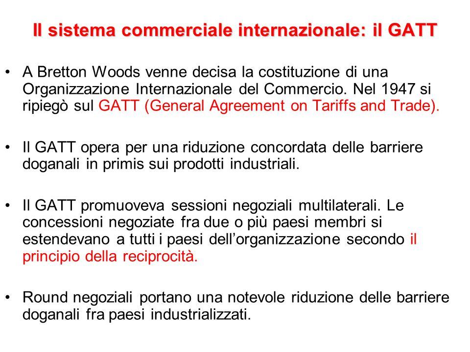 Il sistema commerciale internazionale: il GATT