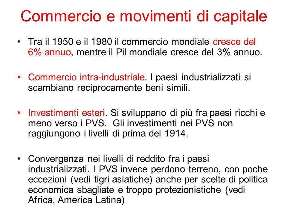 Commercio e movimenti di capitale